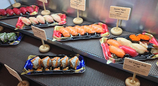 This is what sushi should look like. Forever. (It's not real.)