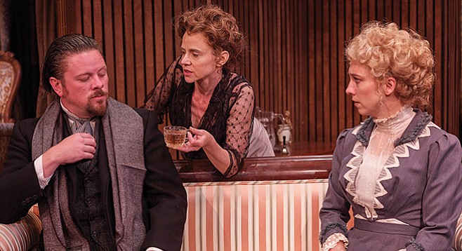 The ironies in Ibsen's Hedda Gabler are often more light than dark and sabotage sterner matters.
