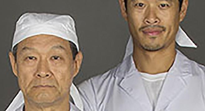 Koji and his apprentice Takashi in Tokyo Fish Story