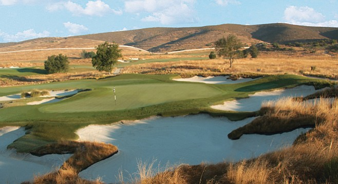 "Barona Creek Golf Course. ""The sod went in the end of June, and Steve's well went dry in the middle of July."""