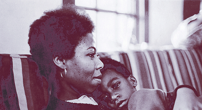 Sherley Anne Williams and son Malcolm, c. 1973