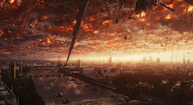 Actual photo of London the morning after the Brexit vote. Kidding! It's from Independence Day: Resurgence.