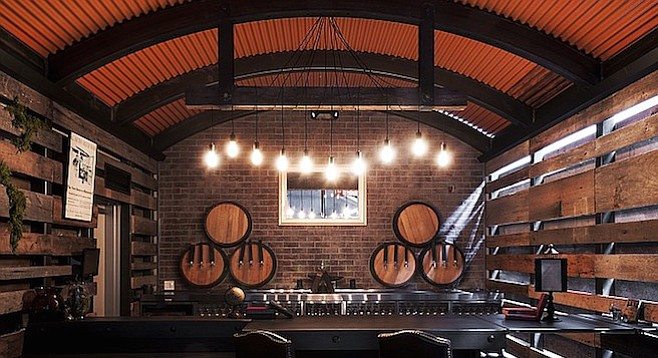Anvil & Stave, in a corner of AleSmith's 25,000-square-foot brew palace in Miramar