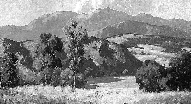 "San Diego's early landscape painters— Maurice Braun and Charles A. Fries — got labeled the ""Eucalyptus School."""
