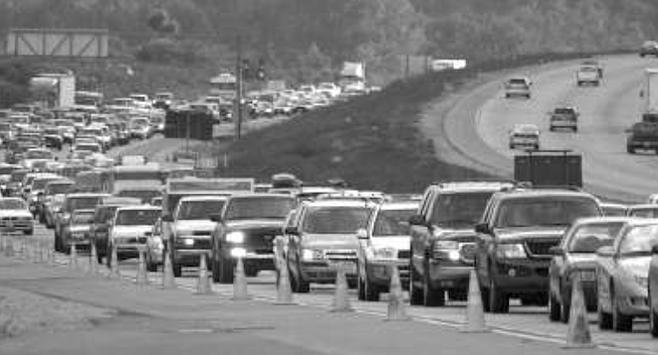 Traffic on Interstate 15
