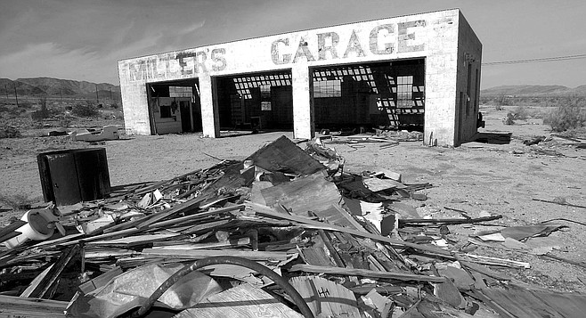 "Miller's Garage. ""The underground gasoline tanks were filled with sand in the '60s, which was legal for the time period."""