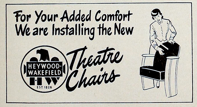 Come for the chairs, stay for the movie!