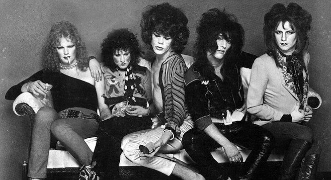 "New York Dolls (Sylvain, second from left). Janet Planet asked me what I was doing in New York, and I said, ""Well, I came here to see the Ramones and to check out the New York Dolls bit."""