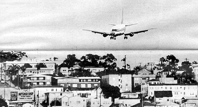 Airplane about to land