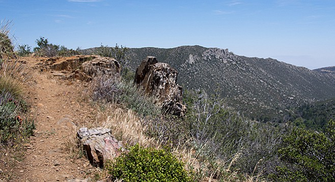 Views to the east and the desert from Desert View Trail.