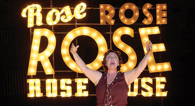Unstoppable stage mom Rose pushes her daughters through the vaudeville circuit in Gypsy.