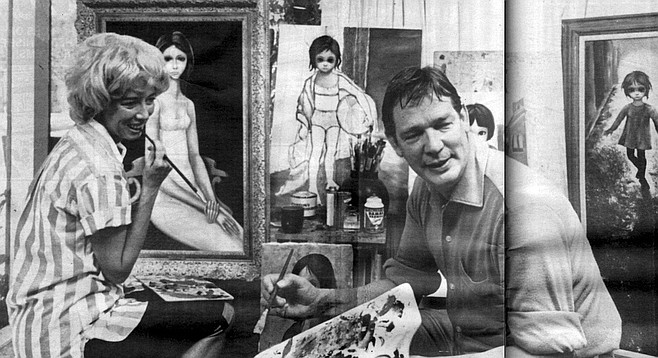 "Margaret and Walter Keane, c. 1963. ""I envisioned myself as a sort of Henry Higgins with Margaret as a modern-day version of Eliza Doolittle."""