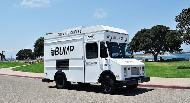 Bump's new coffee truck brings hot or cold brew organic Mexican coffee to North County beach areas beginning this summer.