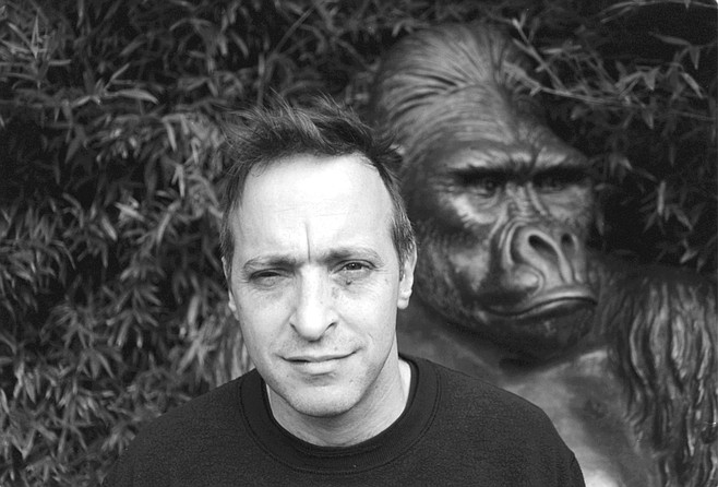 "David Sedaris at the San Diego Zoo. ""What exactly does he want to write about monkeys?"" Jennifer was getting testy."