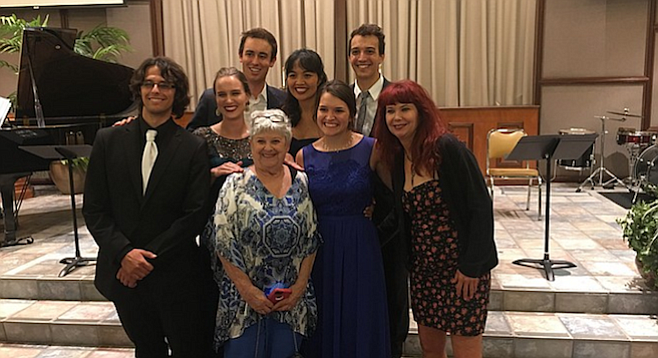 Members of Point Loma Opera Theater with supporters.