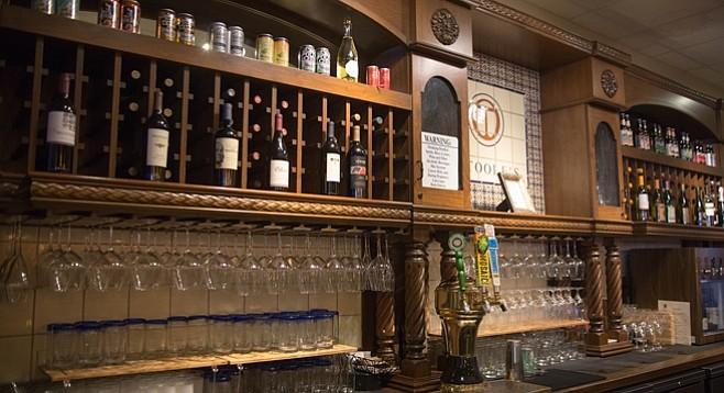 Behind the bar at La Gran Terraza