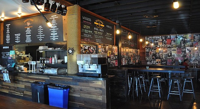 The remodeled dining room at South Park Brewing Company