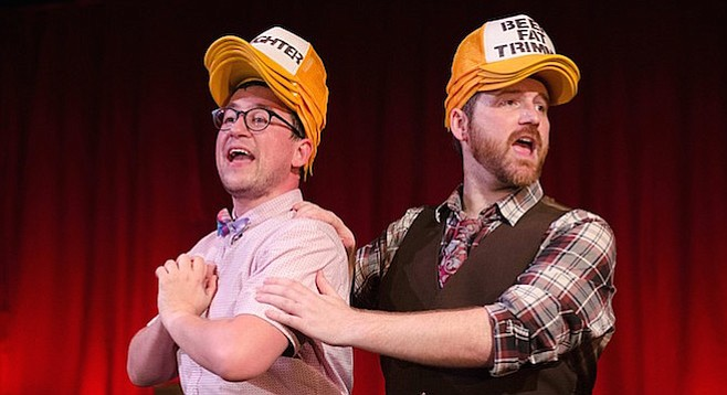 Doug (Anthony Methvin) and Bud (Tom Zohar)