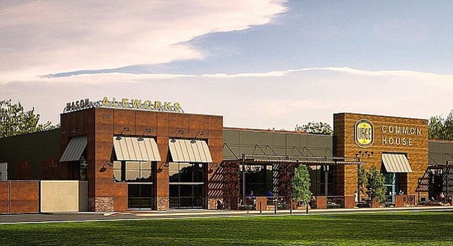 Artist's rendering of the planned Urge Gastropub & Common House, due in 2017