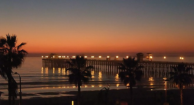 Oceanside Pier at sunset — another kind of riches
