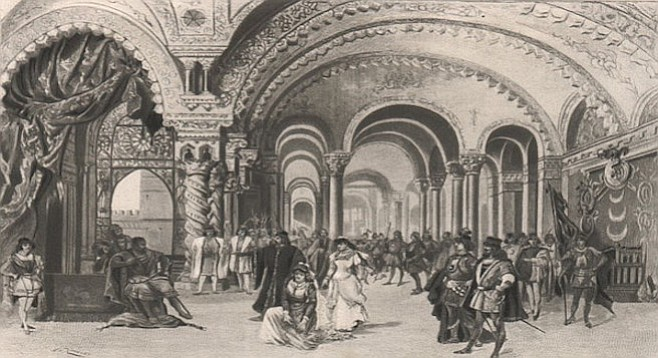 Original image of act III set from Otello.
