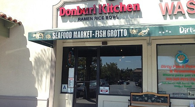Donburi Kitchen, now open at the former site of George's Fish Bucket.