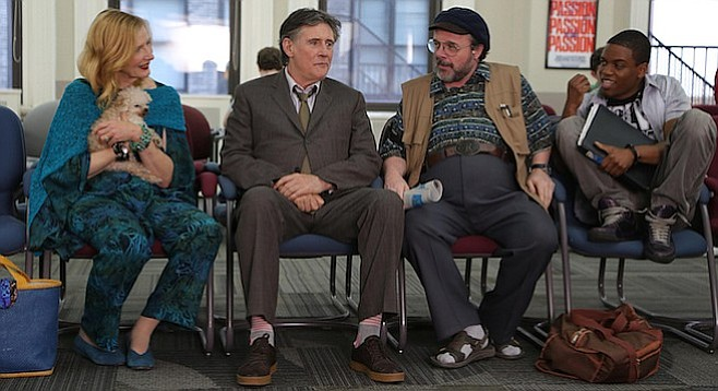Frances Conroy, Gabriel Byrne, Nathan Lane, and Jon Michael Hill in No Pay, Nudity, one of the 100 films playing this year's San Diego International Film Festival.