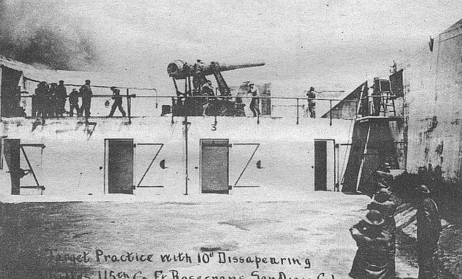 Fort Rosecrans, 1910. The peninsula is open to attack from the harbor and ocean side.
