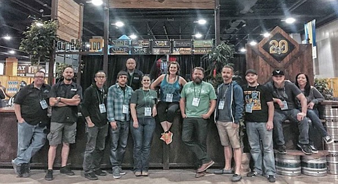 """Team Stone"" representing Stone Brewing at October's Great American Beer Festival."