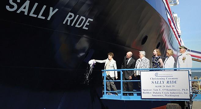 Sally Ride christening at Anacortes, Washington, August 2014