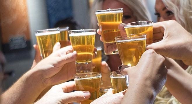 Beer week means tasters for everyone.