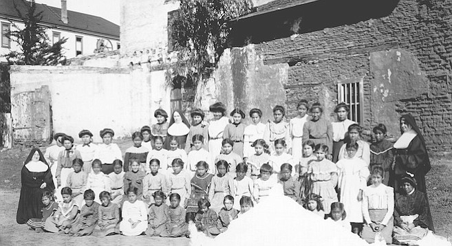 Indians at Mission San Diego de Alcalá c. 1900