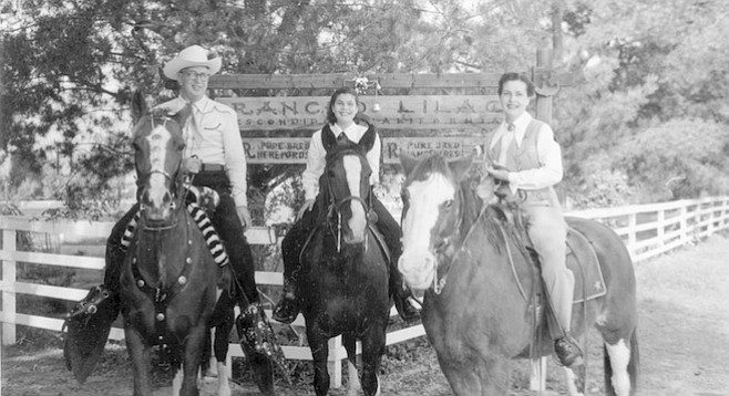 Irving, Abbe, and Cecile at Rancho Lilac, c. 1950. In 1945, when WWII ended, we moved to a ranch in San Diego County. Irving planned to operate a camp for underprivileged youth.