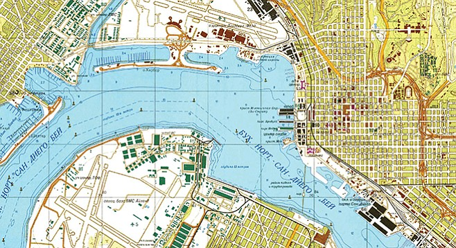 From Wired magazine: A 1980 Soviet map of San Diego naval facilities