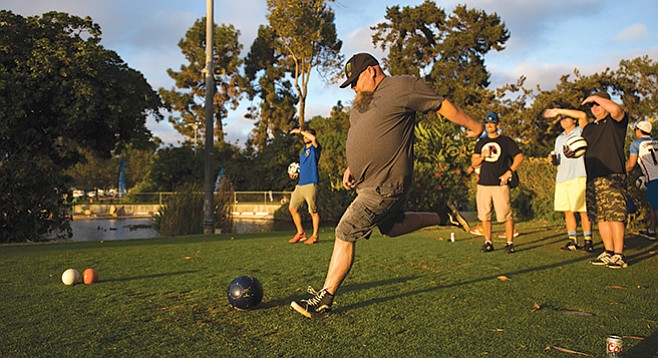 Footgolf tournament at Mission Bay Golf Course
