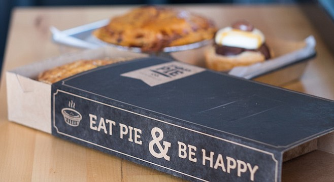 Pop Pie Co. serves savory pies to go in a clever sleeve box.