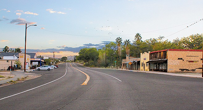 Old Highway 80 in Jacumba is located less than a mile away from the U.S./Mexico border.