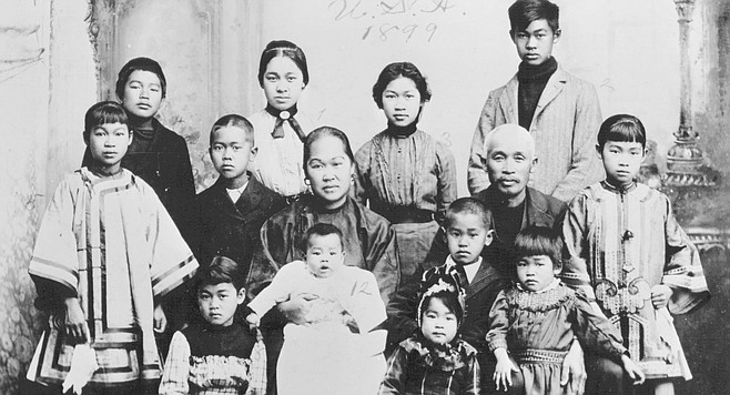Ah Quin and his wife, Sue Leong, had 12 children and lived in a two-story house on Third Street