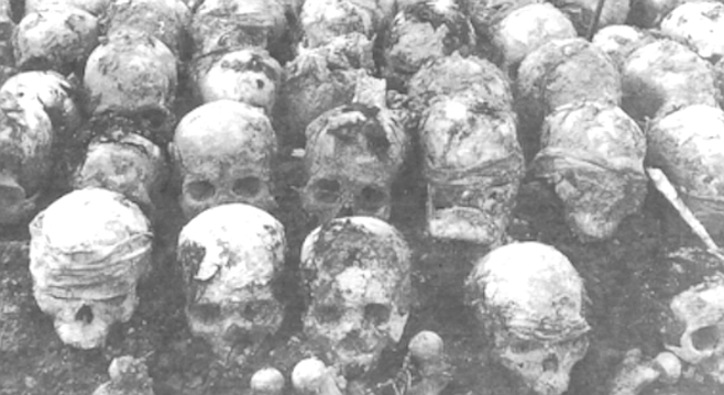 Mass grave of Khmer Rouge victims, uncovered in 1980