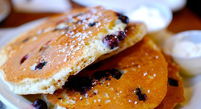 Tasty, tasty pancakes. Yum!