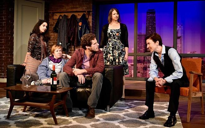 Anna Rebek, Katherine Harroff, Connor Sullivan, Sarah Karpicus, and Jo Anne Glover in The Kid Thing