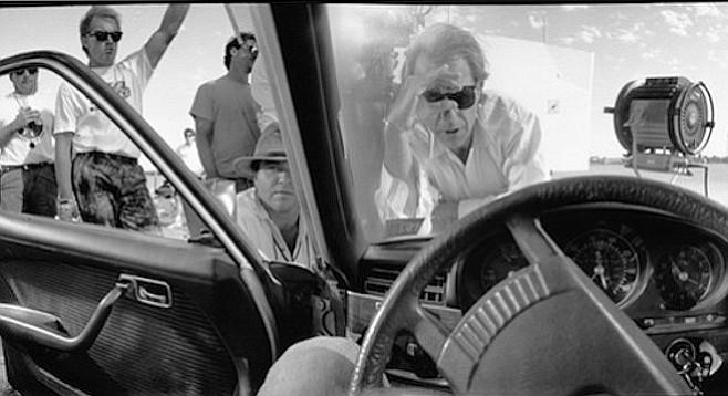 Peter Bogdanovich sets up a shot for Texasville, as seen through the lens of Jeff Bridges.