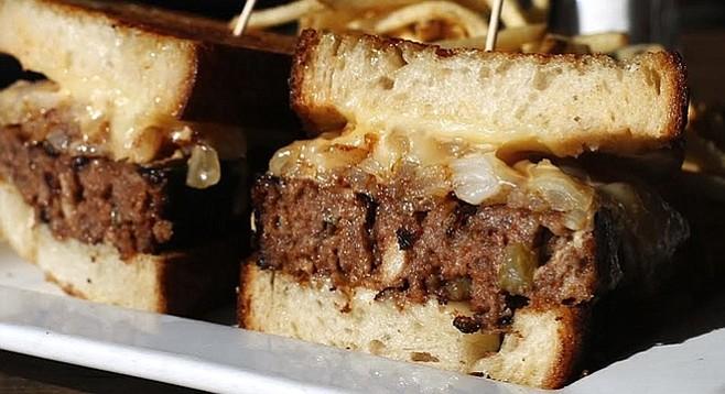 Meatloaf patty melt