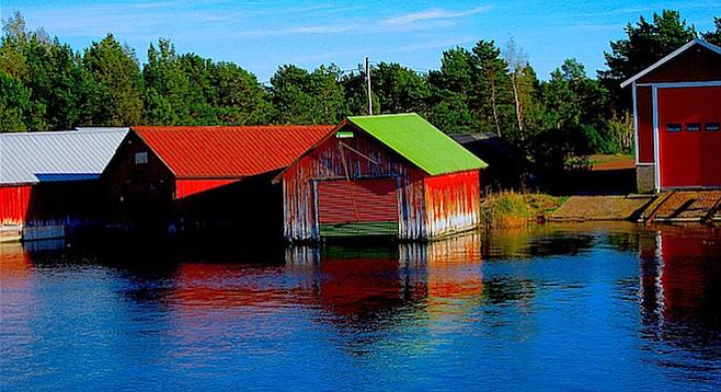 Finnish village in the wild Åland Islands.