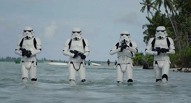 Rogue One: Insert joke about how Storm Troopers' need for a vacation is evidenced by their poor work performance here.