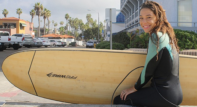 Darian Alexandra moved from Indiana to learn how to surf.
