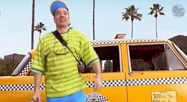 Only hipsters — and Jimmy Fallon — find cause for dressing like white, bizarro-world versions of the Fresh Prince.