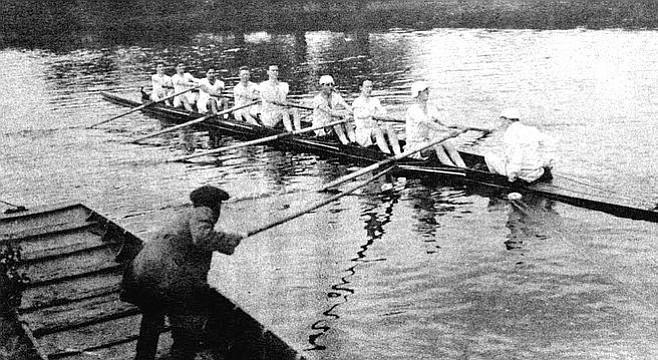 Theobald as coxswain. Theobald became prominent in one of Oxford's traditional sports, rowing, while also being published in Oxford Poetry, the literary magazine.