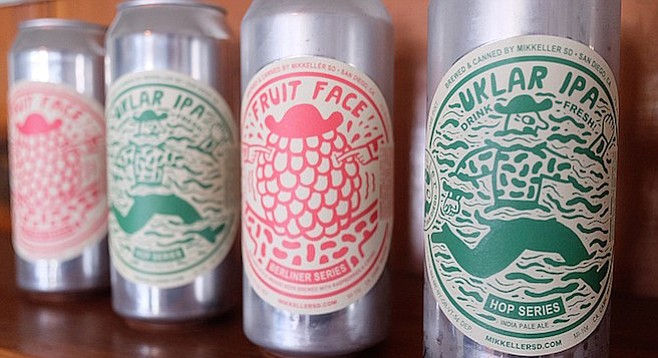 Sticker labels on blank silver cans allow Mikkeller San Diego to release a new, small batch beer every week in 2017.