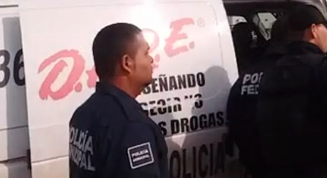 Mexican police used their version of the D.A.R.E. van to transport arrestees